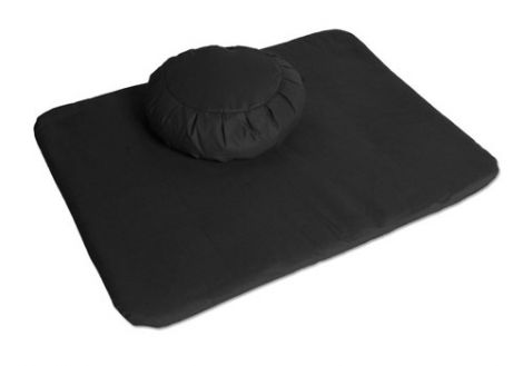 Meditation Set  Zen Black Zafu and Flat Mat