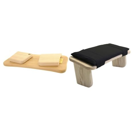 Meditation Set Folding Stool (Tulipwood) and Stool Cushion