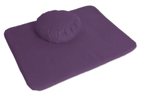 Meditation Set Violet Zafu and Flat Mat