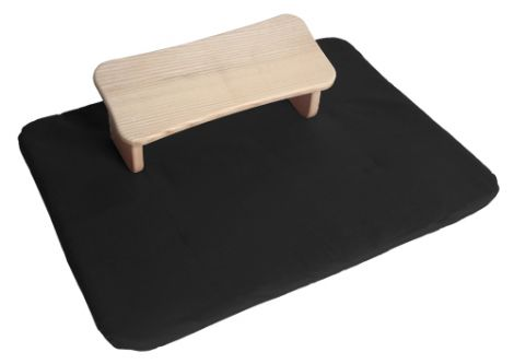 Meditation Set Folding Stool Tulipwood and Flat Mat