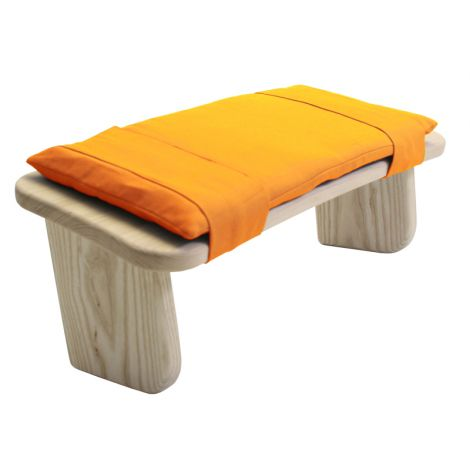 Cushion for Meditation Stool Saffron