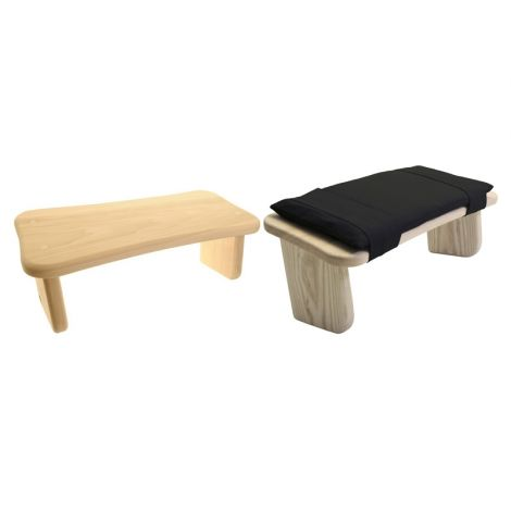 Meditation Set Fixed Legged Stool (Tulipwood) and Stool Cushion