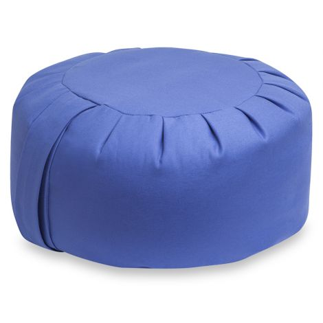 Zafu Meditation Cushion Buckwheat Large Cornflower Blue